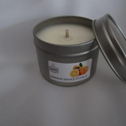 Bougie aux huiles essentielles Orange douce d'Italie