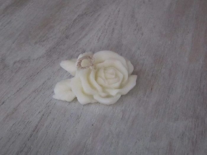 Bougie fleur de rose