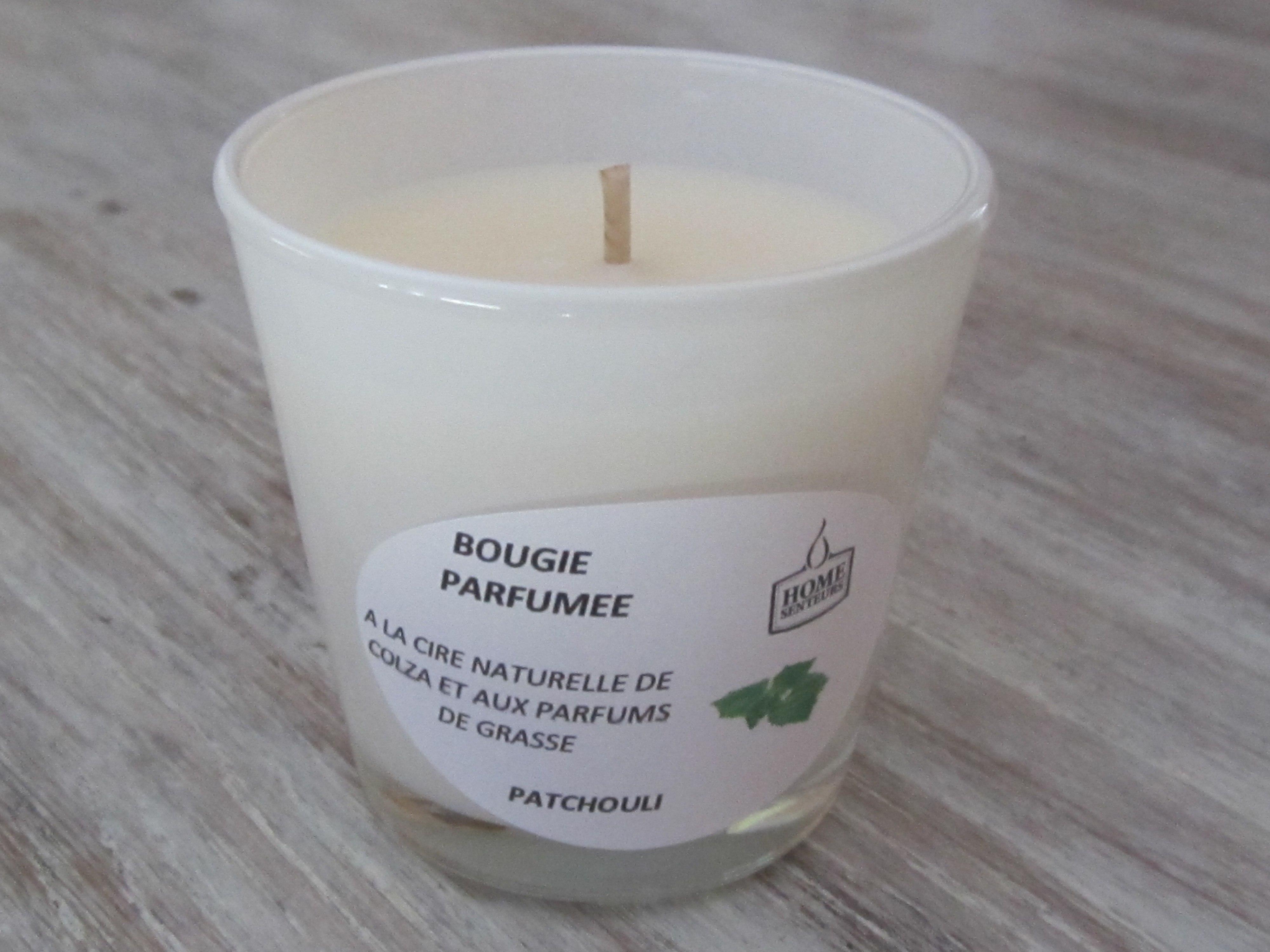 bougie artisanale parfum e en verrine opaque blanc. Black Bedroom Furniture Sets. Home Design Ideas