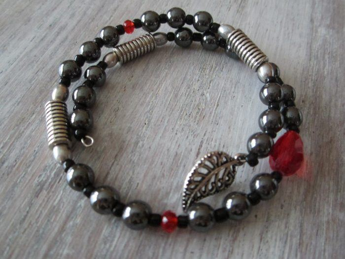 Bracelet d'Hématite 2 rangs