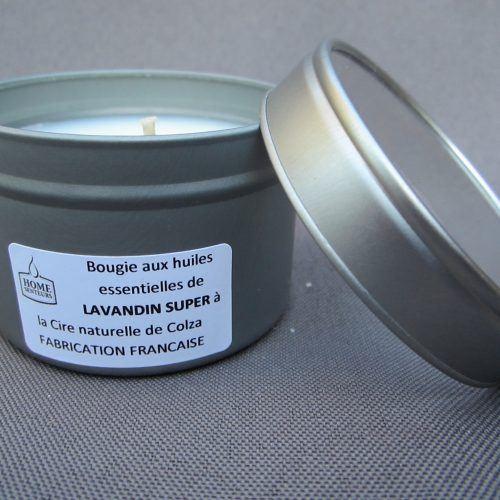 Bougie aux huiles essentielles Bio de Lavandin super